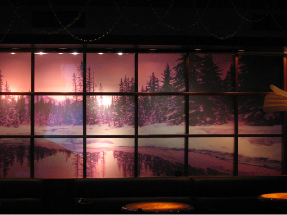 Backlit wall mural for Digital print mural